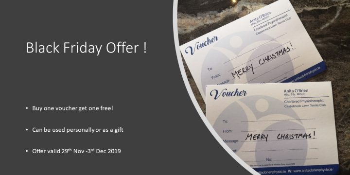 Anita O'Brien Physio- Black Friday Offer